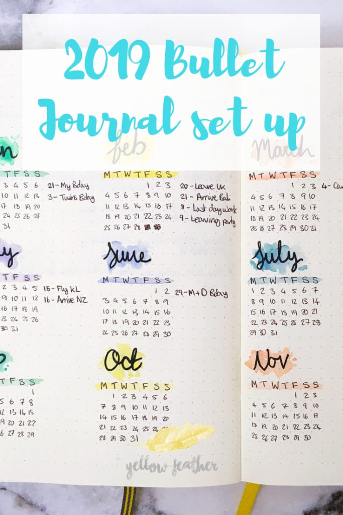 2019 bullet journal set up