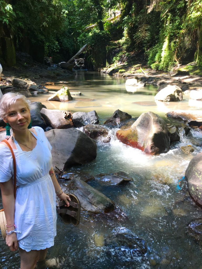 waterfall exploring bali solo female travel fears yellow feather blog