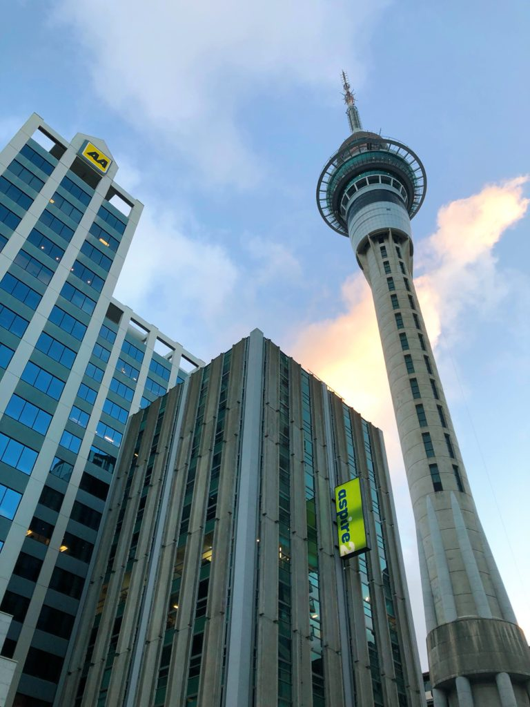sky tower auckland yellow feather blog