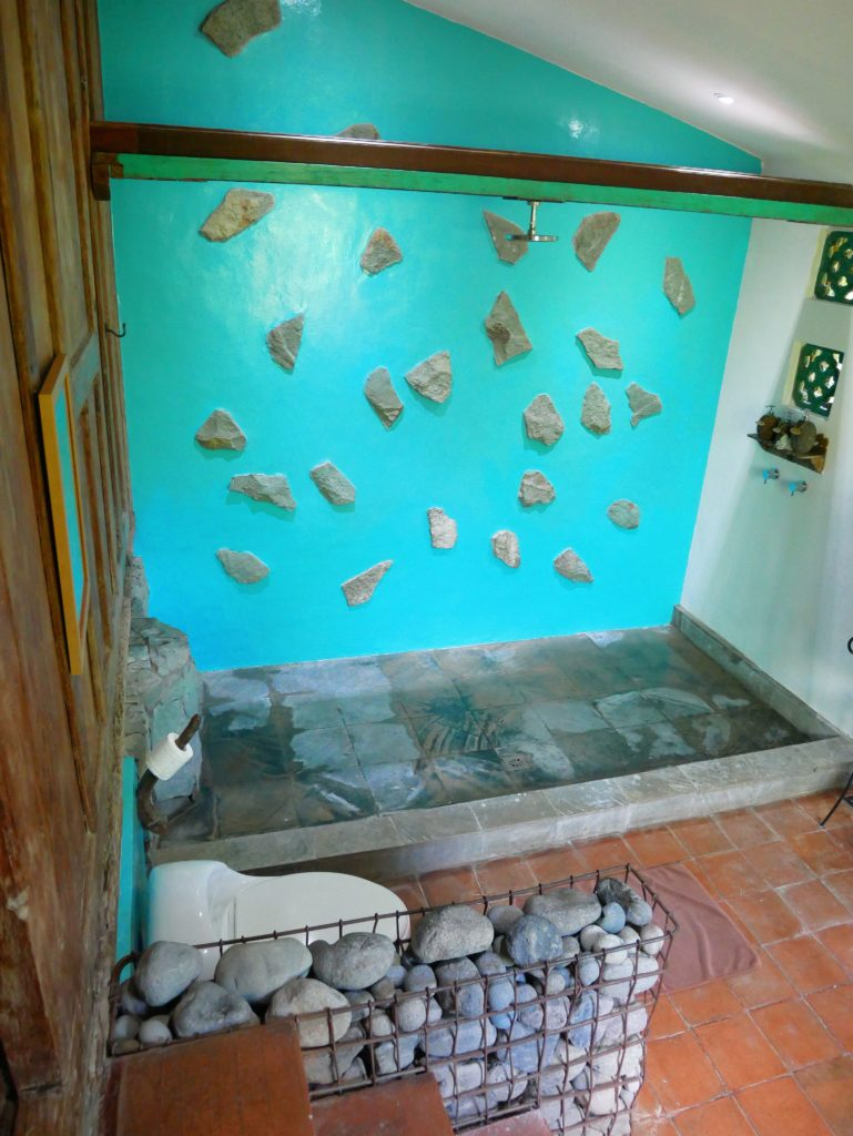 bathroom Rumah Mandau village house desa seni