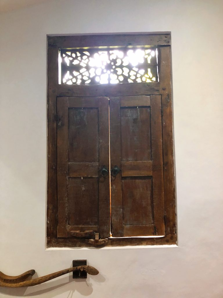 bathroom window wooden shutters Rumah Mandau village house desa seni 1