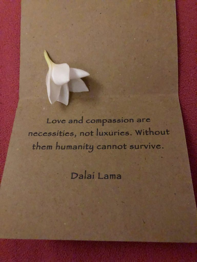 dalai lama quote left on bed desa seni
