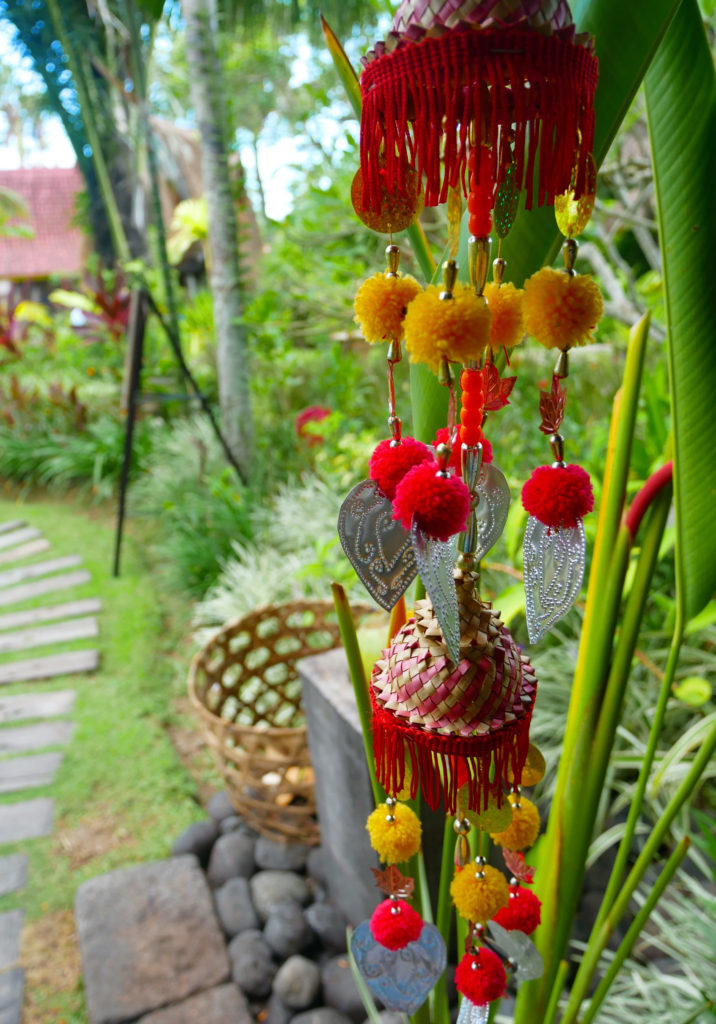 decor outside restaurant desa seni yellow feather blog
