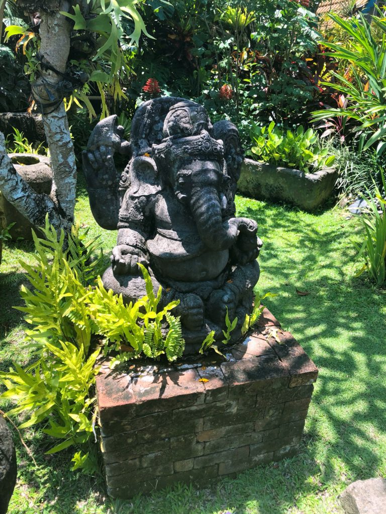 ganesh statue desa seni canguu bali yellow feather blog