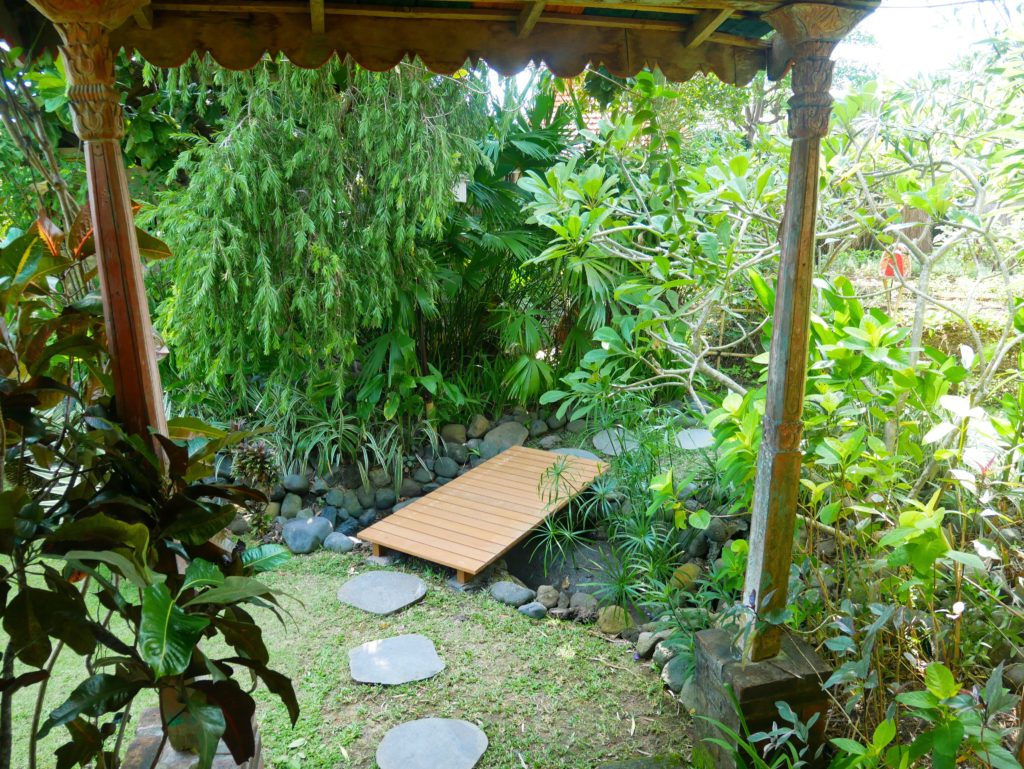 garden outside Rumah Mandau village house desa seni