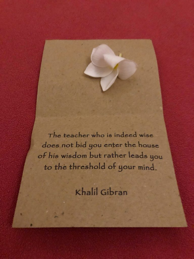 khalil gibran quote left on bed desa seni canguu bali