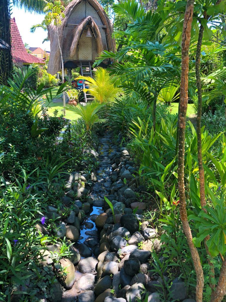 natural stream running through desa seni grounds canguu bali