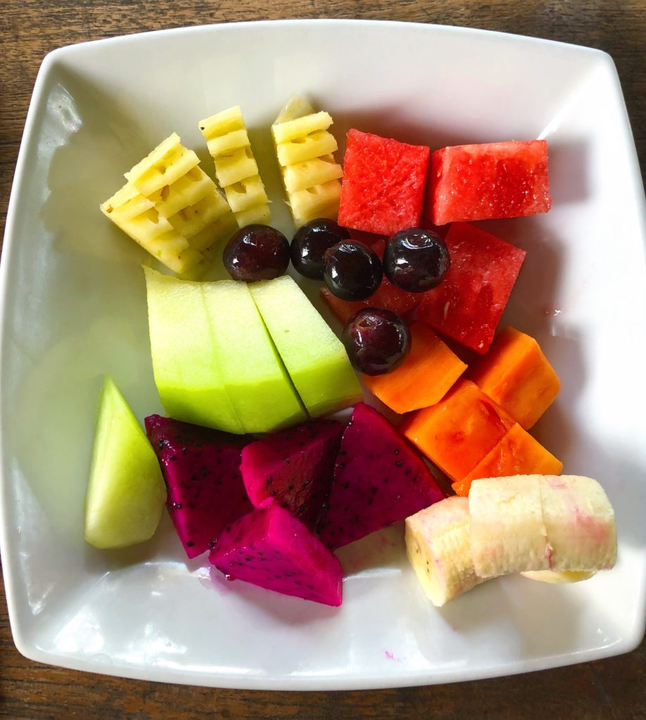 tropical fruit bowl breakfast desa seni yellow feather blog
