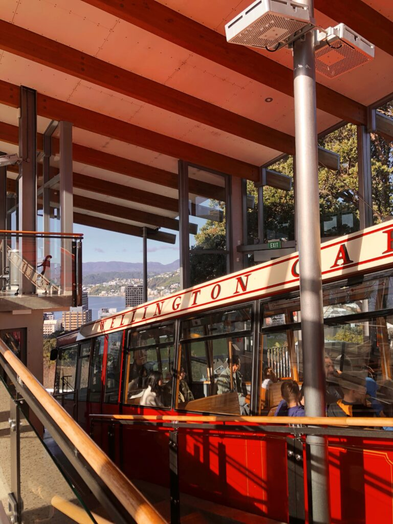 wellington cable car exterior in botanic gardens station