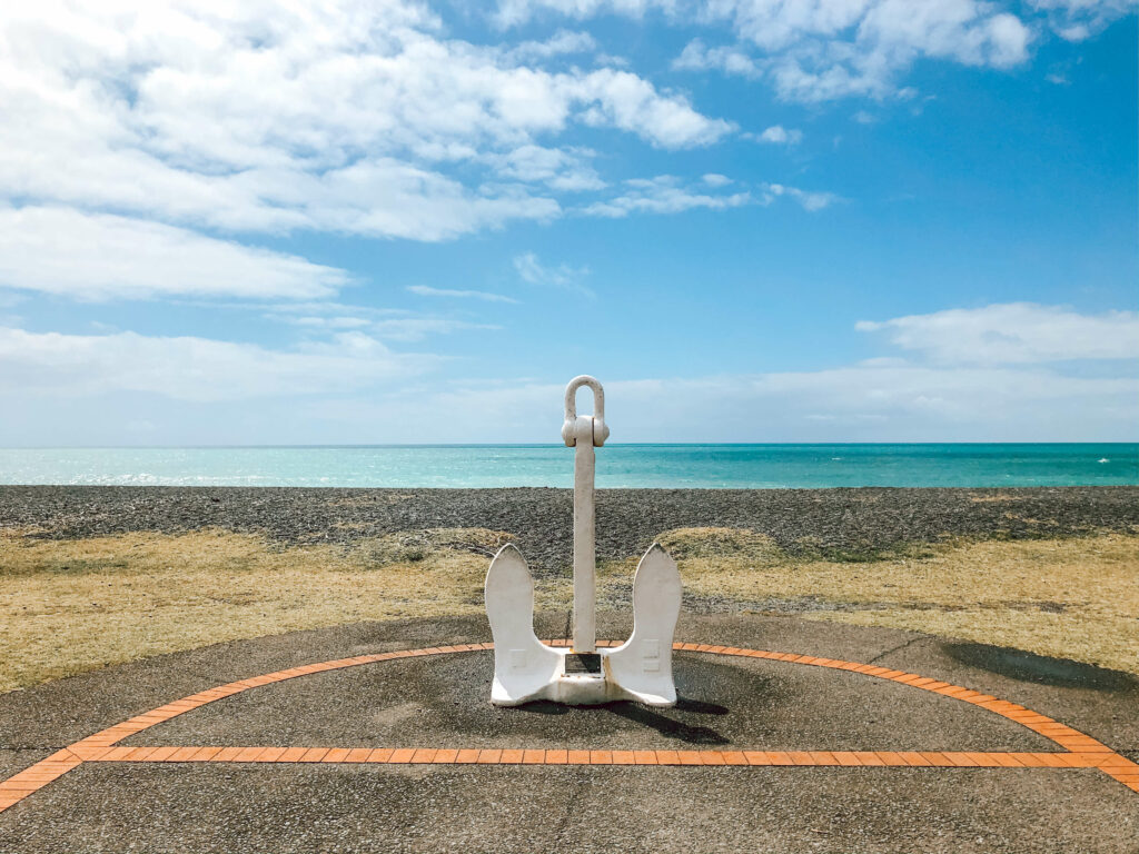 anchor in front of sea napier new zealand