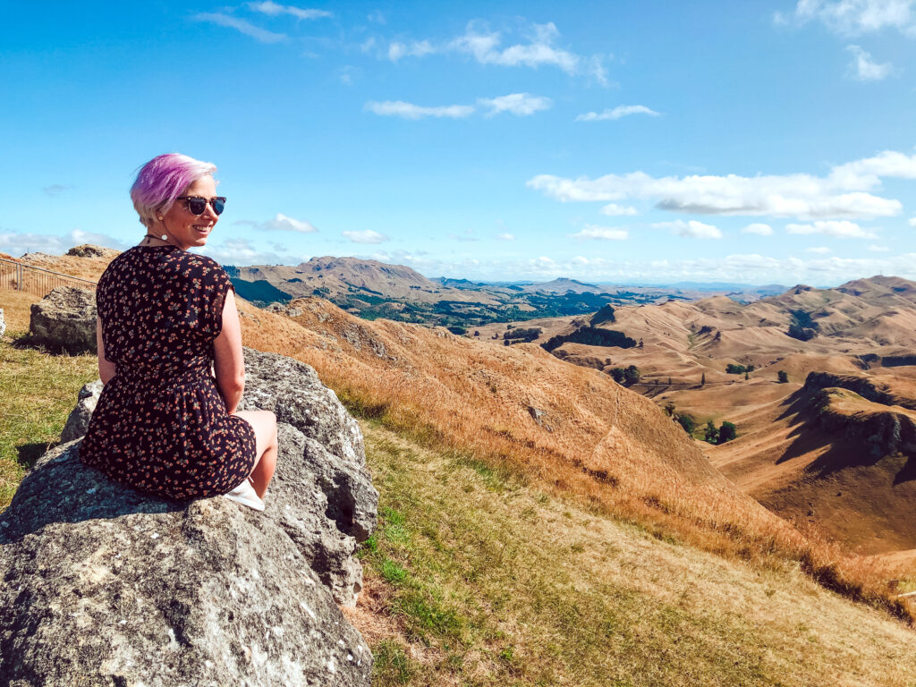 sarah walker yellow feather blog looking over hawkes bay from te mata peak summit